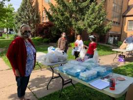 food pantry pick-up outside 2020
